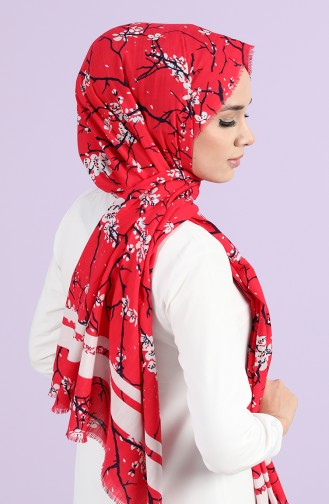 Coral Red Shawl 10052-03