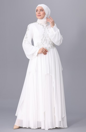 Habillé Hijab Ecru 8027-03