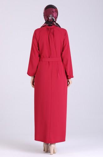 Belted Dress 1324-05 Burgundy 1324-05
