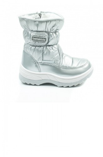 Silver Gray Kids Shoes 1601.GUMUS