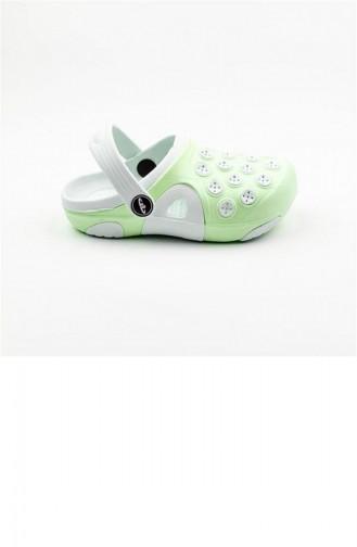 Light Green Kid s Slippers & Sandals 1781.F.YESİL-BEYAZ