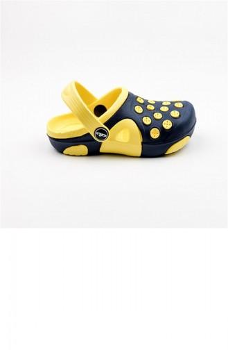 Yellow Kid s Slippers & Sandals 1781.LACİVERT - SARI