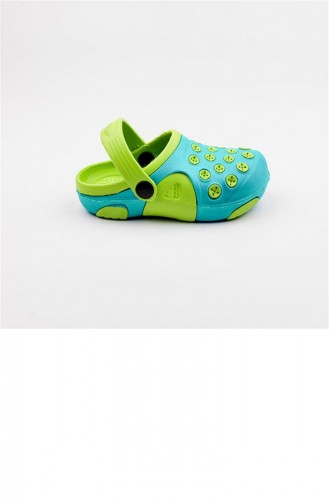 Water Green Kid s Slippers & Sandals 1781.SU YESIL-FL YESIL