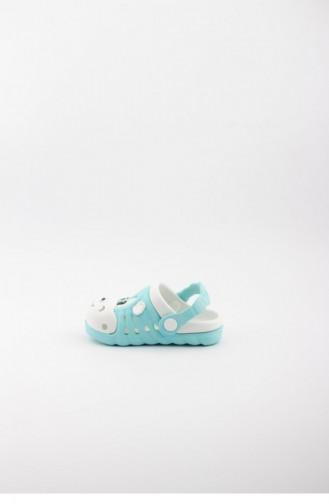Water Green Kid s Slippers & Sandals 1749.SU YEŞİLİ-BEYAZ