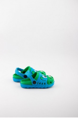 Turquoise Kid s Slippers & Sandals 1749.TURKUAZ-YESIL