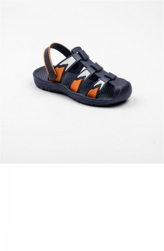 Orange Summer Sandals 3356.LACIVERT-TURUNCU