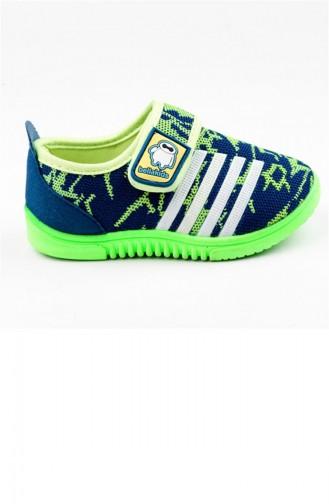 Blue Kids Shoes 2673.MAVİ