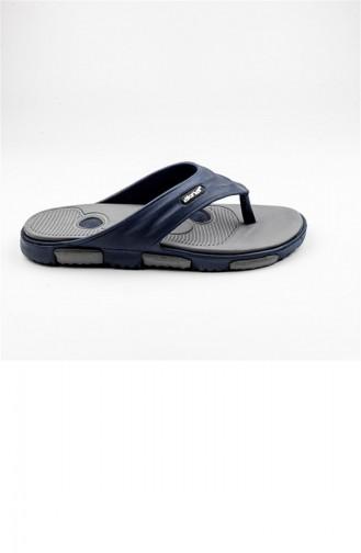 Navy Blue Summer slippers 1774.LACİVERT - GRİ