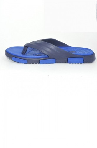 Blue Summer slippers 1774.LACİVERT - MAVİ
