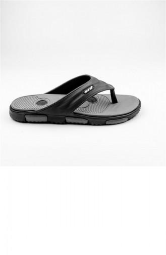 Gray Summer slippers 1774.SIYAH-GRI