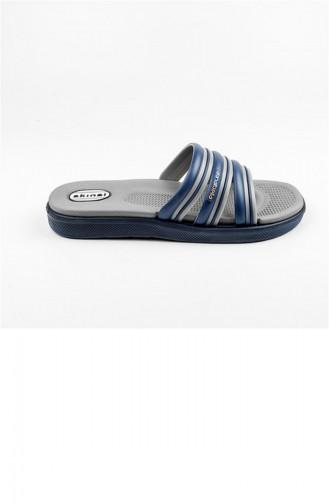 Navy Blue Summer slippers 2158.LACİVERT - GRİ