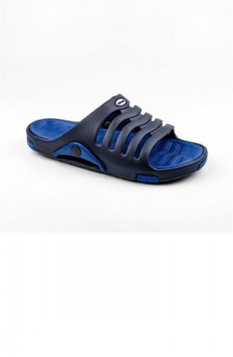 Blue Summer slippers 2647.LACİVERT - MAVİ