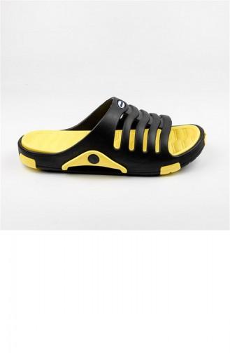 Yellow Summer slippers 2647.SİYAH - SARI