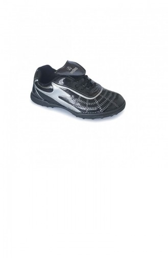 Black Kids Shoes 2051.SIYAH-GUMUS