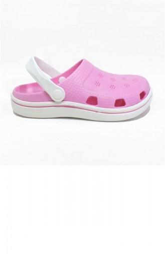 Pink Summer slippers 2649.PEMBE-BEYAZ