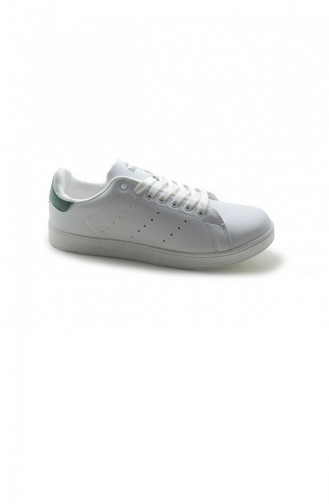 Green Casual Shoes 3052.BEYAZ-YESIL