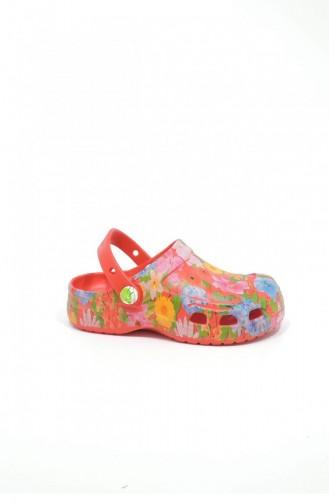 Red Kid s Slippers & Sandals 3386.KIRMIZI