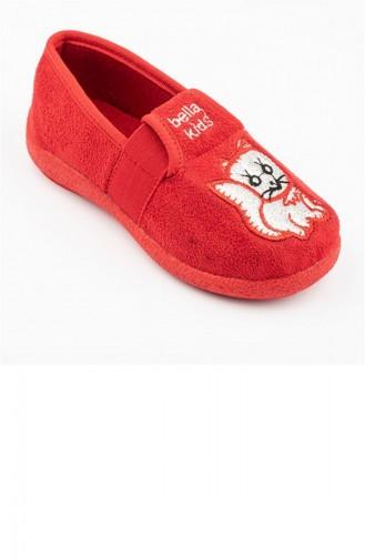 Red Kinderpantoffels 2989.KIRMIZI