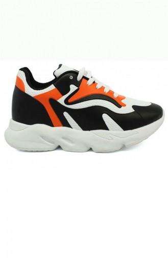 Chaussures Enfant Noir 3463.MM SIYAH-TURUNCU