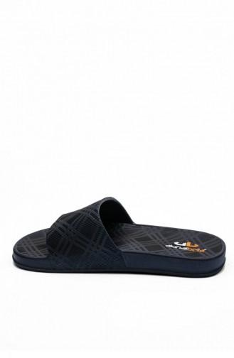 Navy Blue Summer slippers 3511.MM LACIVERT