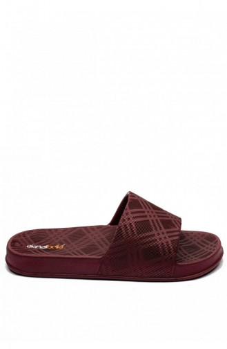Claret red Summer slippers 3512.MM BORDO