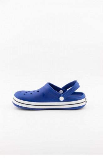 Blue Summer slippers 3464.MM MAVI-BEYAZ-LACI