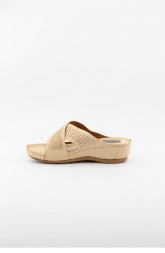 Beige Summer slippers 1421.BEJ