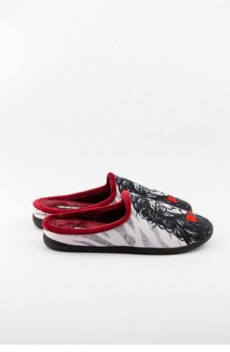 Claret Red Women`s House Slippers 3136.MM BORDO