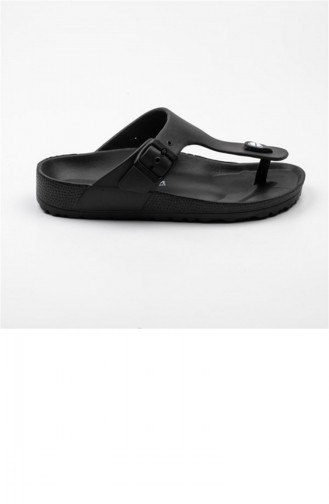Black Summer slippers 1814.SİYAH