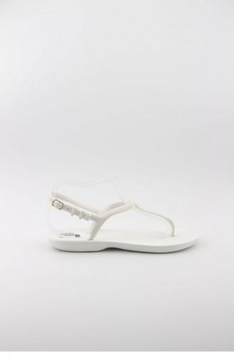 Weiß Sommer Sandalen 3368.BEYAZ