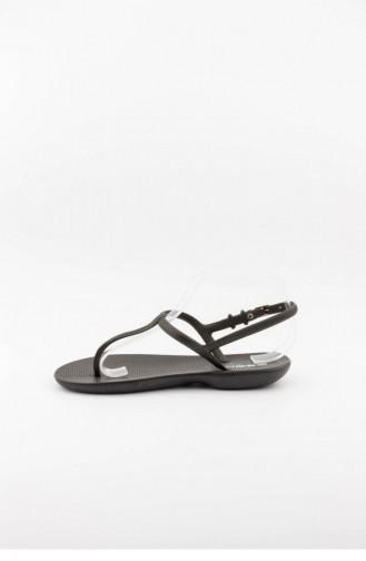 Black Summer Sandals 3368.SIYAH