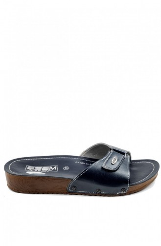 Navy Blue Woman home slippers 1534.LACİVERT