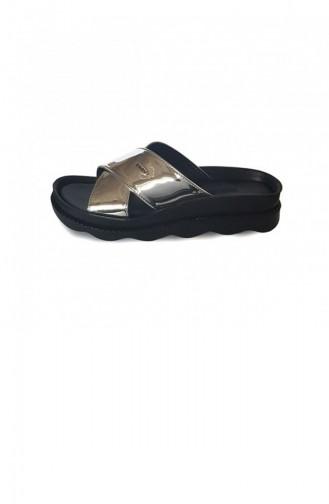Silver Gray Summer slippers 3304.GUMUS