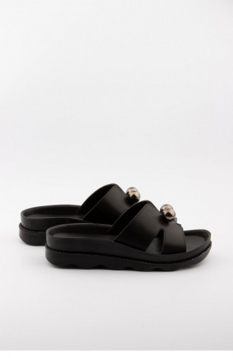 Black Summer slippers 3326.SIYAH