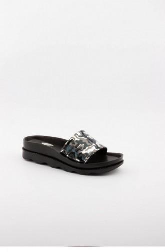 Silver Gray Summer slippers 3307.GUMUS