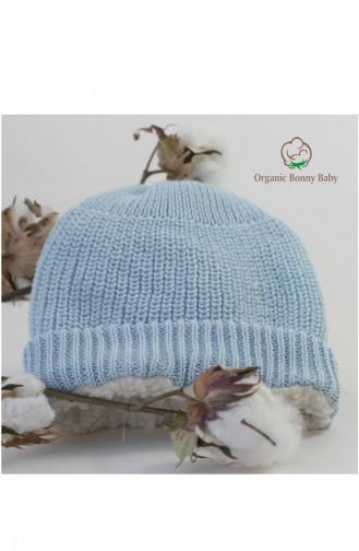 Organic Bonny Baby Organik Bebek Şapkası Bere OBB-OS1542E1 Mavi