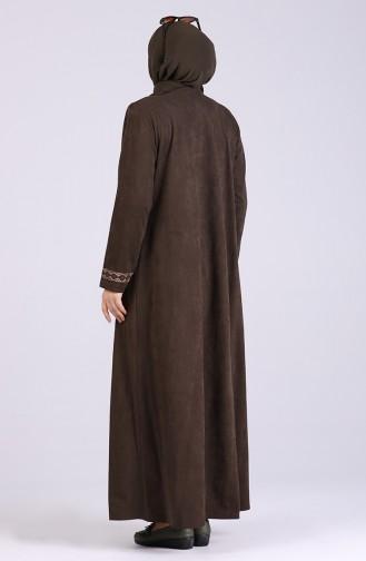 Khaki Abaya 0064-04