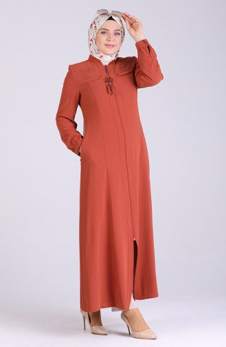 Abayas Couleur brique 8042-02
