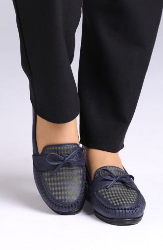 Navy Blue Casual Shoes 0032-02