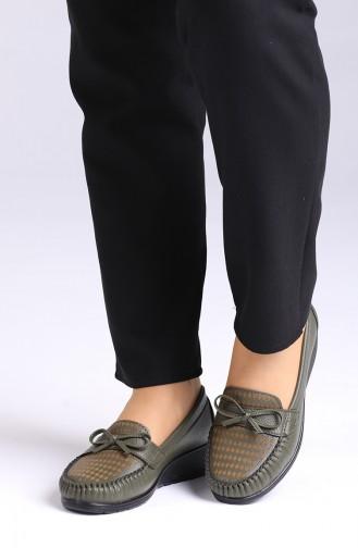 Chaussures de jour Khaki 0032-05