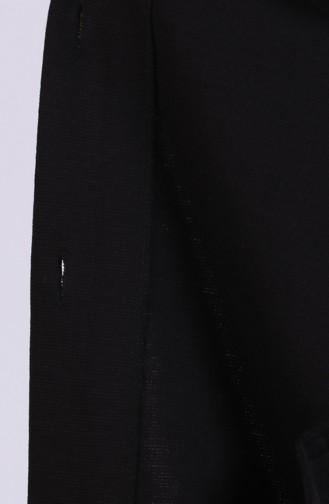 Büyük Beden Kürklü Panço 4952-01 Siyah 4952-01