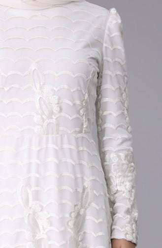 White İslamitische Avondjurk 7276-01