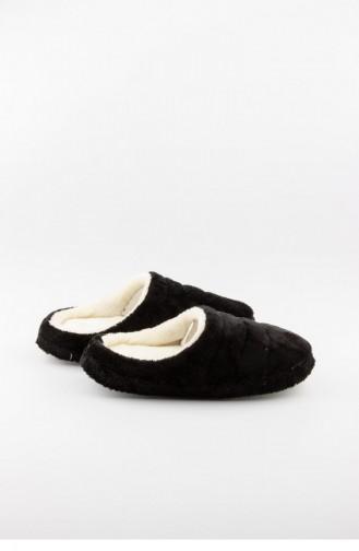 Black Woman home slippers 3548.MM SIYAH