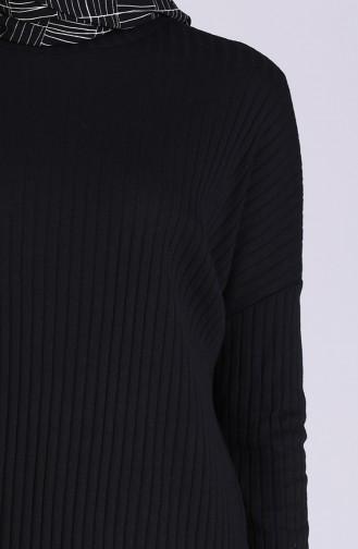 Tunik Pantolon İkili Takım 8148-01 Siyah