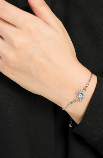 Silbergrau Armband 056-01