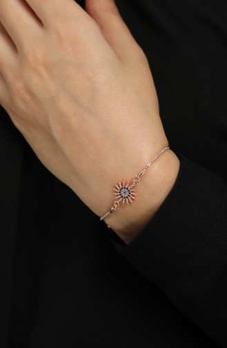 Rosa Haut Armband 056-02