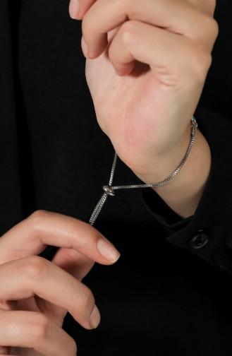 Silbergrau Armband 061-01