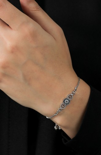Silbergrau Armband 148-01