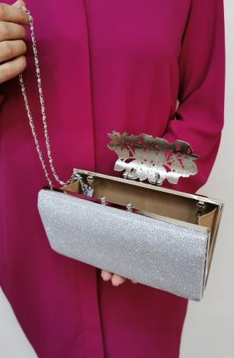 Silbergrau Portfolio Handtasche 346111-208