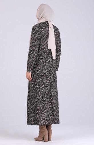 Plus Size Print Dress 0049a-01 Black 0049A-01